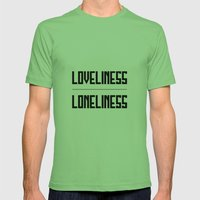 loveliness / loneliness Mens Fitted Tee Grass SMALL