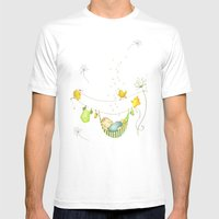Baby sleeping Mens Fitted Tee White SMALL