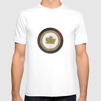 Leaf Space Mens Fitted Tee White SMALL