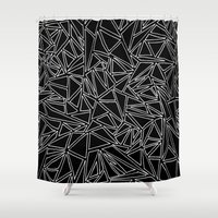 Abstract #001B Shower Curtain