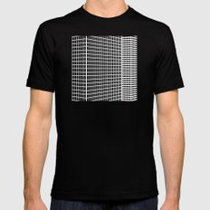 TWO BUILDINGS SMALL Mens Fitted Tee Black
