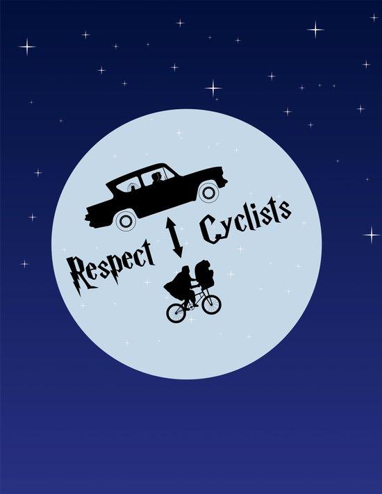 Respect Cyclists Art Print