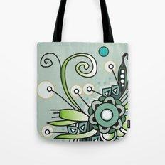 Ornate square zentangle, Jade Color Tote Bag