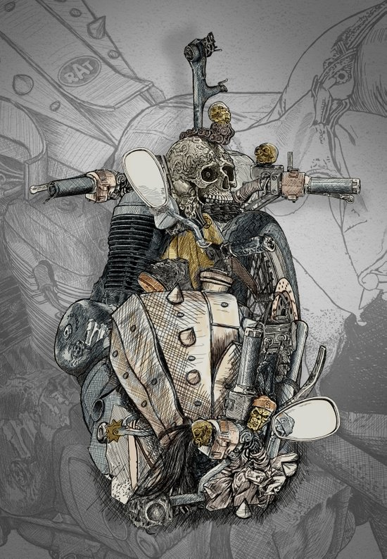 CROSS ENGINE Art Print