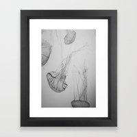 Descending Jellies Framed Art Print