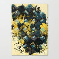 Abstract Thinking Remix Canvas Print