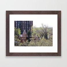 Old & Modern City Life Framed Art Print