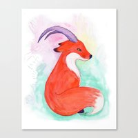 Fox Horns Canvas Print