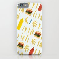 Burgers And Fries iPhone 6 Slim Case