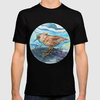 Bird In A Circle Mens Fitted Tee Black SMALL
