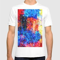 Color mix Mens Fitted Tee White SMALL