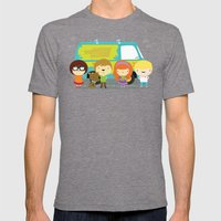 Little scooby characters Mens Fitted Tee Tri-Grey SMALL