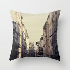 Paris Streets Throw Pillow
