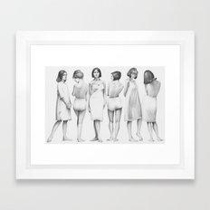 white girls Framed Art Print