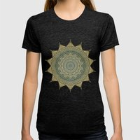 Sun Symbol Womens Fitted Tee Tri-Black SMALL