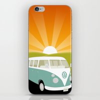 Retro Volkswagen Bus - Sunset iPhone & iPod Skin