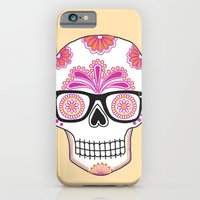 iPhone & iPod Case featuring sugar skull #bonethug by Taylor St. Claire