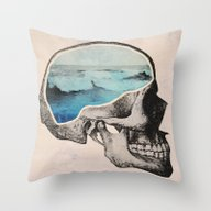 Brain Waves Throw Pillow
