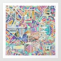 Geometric Abstract Lines… Art Print