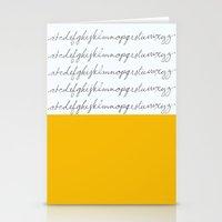 Alphabet-Yellow Stationery Cards
