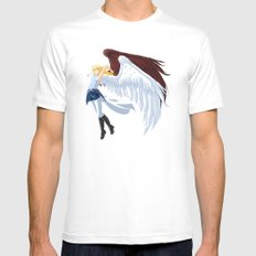 Calling White Mens Fitted Tee SMALL