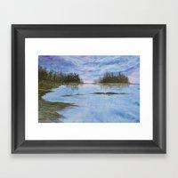Maine Purple Sunset Cove… Framed Art Print