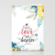 Chbosky - We Accept The … Stationery Cards