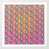 Candybuttons Pattern Art Print