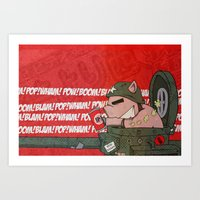 I brought a Pop Gun to a Cock Fight Art Print