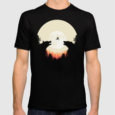 Runaway Black SMALL Mens Fitted Tee