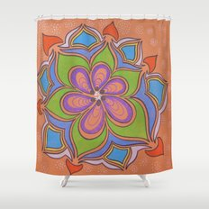 Drops and Petals 4 Shower Curtain