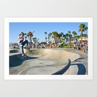 Venice Skate Park Art Print