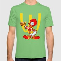 RONALD MCDONALD DUCK Mens Fitted Tee Grass SMALL