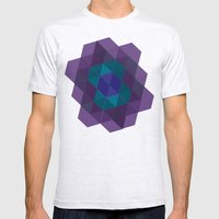 Tiling III Mens Fitted Tee Ash Grey SMALL