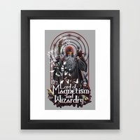Lord Of MAgnetism And Wi… Framed Art Print