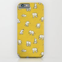 iPhone Cases featuring indian baby elephants by Estelle F