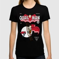 The Dark Quail Womens Fitted Tee Black SMALL