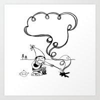 Tea and Marshmallows Art Print