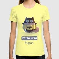 Retro Hero Womens Fitted Tee Lemon SMALL