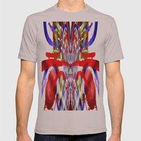 Color And Lines In Space Mens Fitted Tee Cinder SMALL