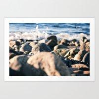 Rocky Ocean Beach Art Print