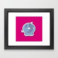 Angry Elefant Framed Art Print