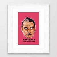 Mascaras Framed Art Print