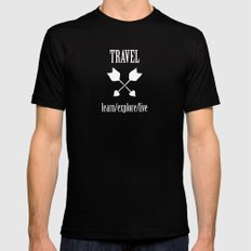 Travel  Mens Fitted Tee Black SMALL