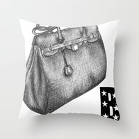 B is for Birkin Throw Pillow