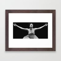 abyss of the disheartened : II bw Framed Art Print