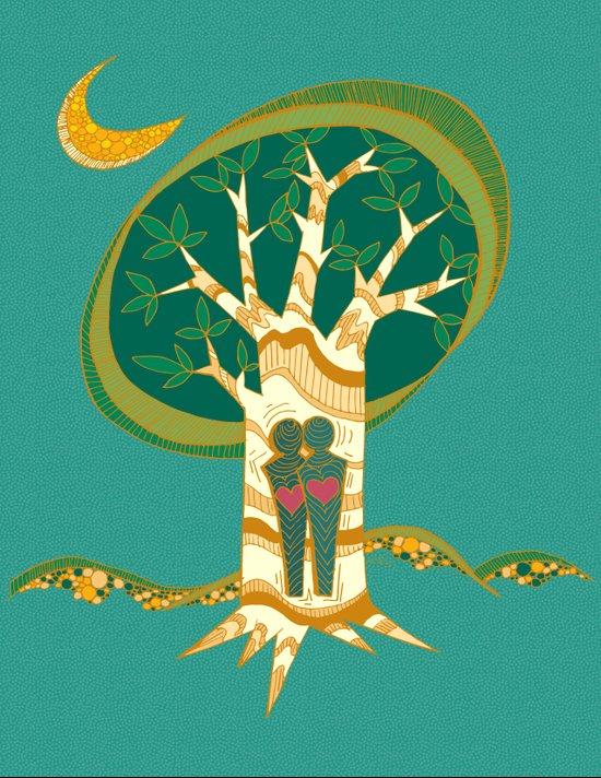 Carve Our Love Canvas Print