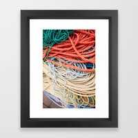 Sailor Rope II Framed Art Print