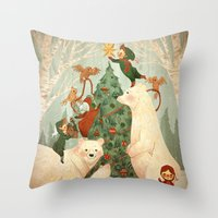 Christmas Card 2014 Throw Pillow
