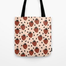 Yummy Strawberries By An… Tote Bag